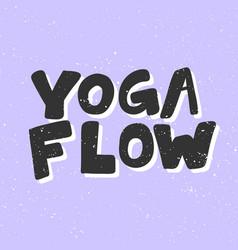 Yoga flow sticker for social media content vector