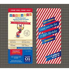 Birthday card Boarding pass style vector image vector image