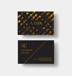 elegant black luxury business cards with marble vector image vector image