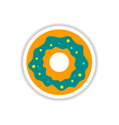 Label icon on design sticker collection donut vector