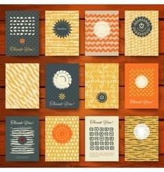 Set of grunge vintage cards vector image