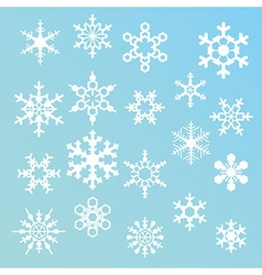 snowflakes silhouettes vector image