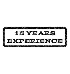 15 years experience watermark stamp vector image