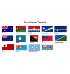 australia and oceania flags vector image vector image