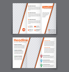design folding flyer with space for a photo on vector image