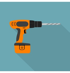 flat screwdriver vector image