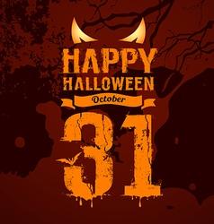 Happy halloween orange message and eyes vector image vector image