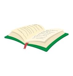 Open book cartoon icon vector image vector image
