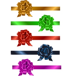 ribbons with bows vector image vector image