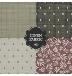 Set of for linen fabric vector image vector image