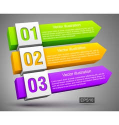 Abstract numbered banners 3D vector image vector image