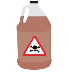 Bottle with biohazard and toxic symbol vector image vector image