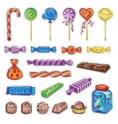 candies set vector image