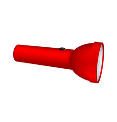 flashlight in red design vector image