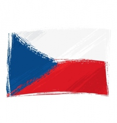 grunge Czech republic flag vector image