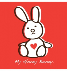 honey bunny vector image vector image