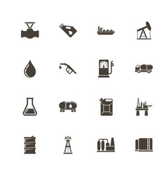 oil - flat icons vector image vector image