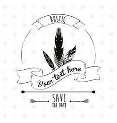 save the date rustic poster decorative element vector image vector image