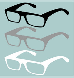 spectacles black grey white colour vector image vector image