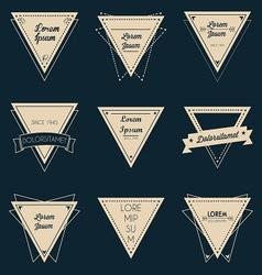 Triangle vintage label set vector image vector image