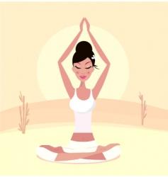 yoga Asian girl vector image vector image