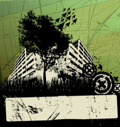 grunge urban design vector image vector image