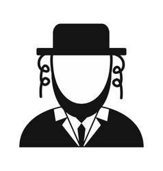 Rabbi simple icon vector image