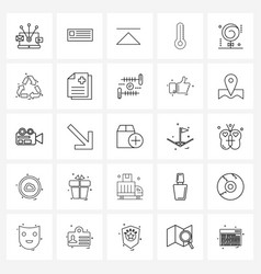 25 editable line icons and modern symbols of vector