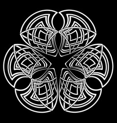 abstract gothic tribal mandala in celtic style vector image