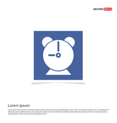 alaram clock icon - blue photo frame vector image