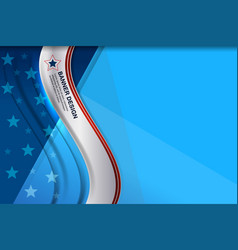 American blue wave background vector