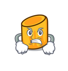 angry rigatoni mascot cartoon style vector image