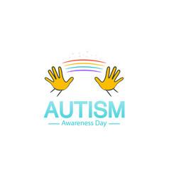 Autism awareness day logo design template vector