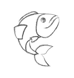 Blurred sketch silhouette of largemouth bass fish vector