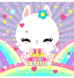 bunny 27 vector image