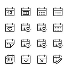 Calendar line icon minimal vector