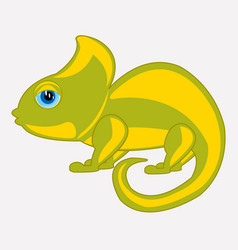 Cartoon animal chameleon vector