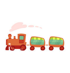 Cartoon of amusement park train ride vector
