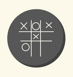 children s game tic-tac-toe round icon vector image