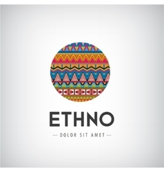 Circle ethno tribal hipster decorated vector