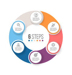 Circular infographics Business diagram with 6 vector