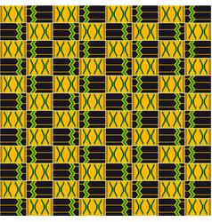 Cloth kente african seamless pattern vector