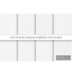 collection of seamless striped textures - light vector image