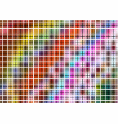 Colorful pattern with grid vector