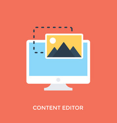 Content editor vector
