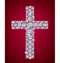 Cross of Diamonds vector image