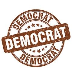 Democrat brown grunge round vintage rubber stamp vector