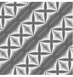 Design seamless monochrome cross pattern vector