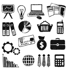 Doodle finance images vector