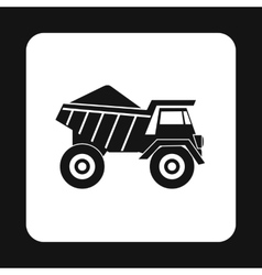 Dump truck icon simple style vector